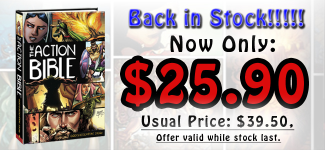 Action Bible is back in stock
